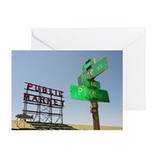 Seattle Pike Place Market - Greeting Cards (Pk of