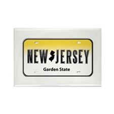 New Jersey Rectangle Magnet