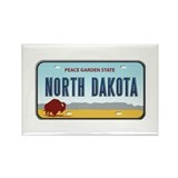 North Dakota Rectangle Magnet (100 pack)