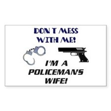 Policeman's Wife Rectangle Decal