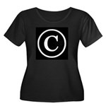 Copyright Symbol Women's Plus Size Scoop Neck Dark
