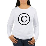 Copyright Symbol Women's Long Sleeve T-Shirt