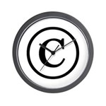 Copyright Symbol Wall Clock