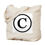Copyright Symbol Tote Bag