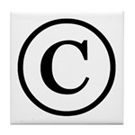 Copyright Symbol Tile Coaster