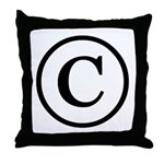 Copyright Symbol Throw Pillow