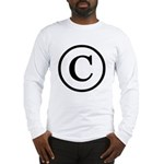 Copyright Symbol Long Sleeve T-Shirt