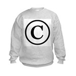 Copyright Symbol Kids Sweatshirt