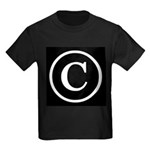 Copyright Symbol Kids Dark T-Shirt