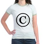 Copyright Symbol Jr. Ringer T-Shirt
