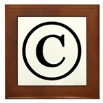 Copyright Symbol Framed Tile