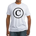 Copyright Symbol Fitted T-Shirt
