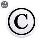 "Copyright Symbol 3.5"" Button (10 pack)"