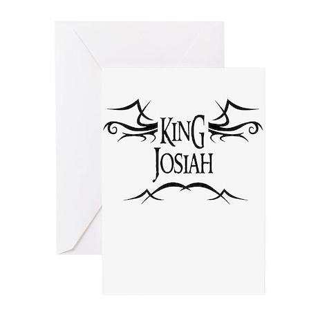 King Josiah Greeting Cards (Pk of 10)