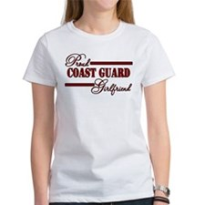 Proud Coastie Girlfriend (Red N Black) Tee
