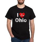 I Love Ohio (Front) Black T-Shirt