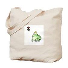 Cute Frog prince Tote Bag