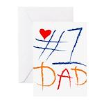 #1 Dad Greeting Cards (Pk of 20)