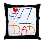 #1 Dad Throw Pillow
