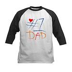 #1 Dad Kids Baseball Jersey