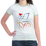 #1 Dad Jr. Ringer T-Shirt