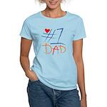 #1 Dad Women's Light T-Shirt