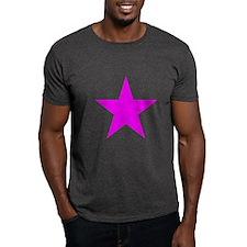 Hot Pink Star Design T-Shirt