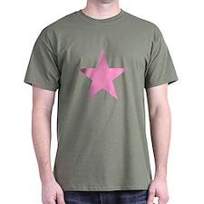 Pink Star Design T-Shirt