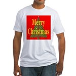 K9 Paw Christmas Tree Fitted T-Shirt