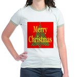 K9 Paw Christmas Tree Jr. Ringer T-Shirt