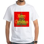 K9 Paw Christmas Tree White T-Shirt