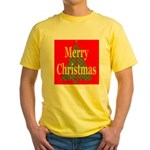 K9 Paw Christmas Tree Yellow T-Shirt