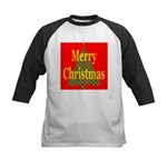 K9 Paw Christmas Tree Kids Baseball Jersey