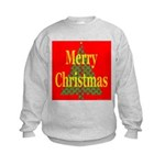 K9 Paw Christmas Tree Kids Sweatshirt