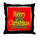 K9 Paw Christmas Tree Throw Pillow