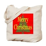 K9 Paw Christmas Tree Tote Bag
