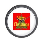 K9 Paw Christmas Tree Wall Clock