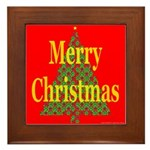 K9 Paw Christmas Tree Framed Tile