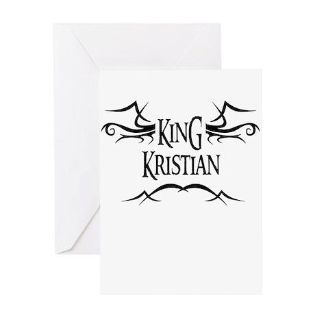 King Kristian Greeting Card
