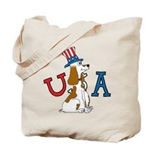 Patriotic Pup Tote Bag