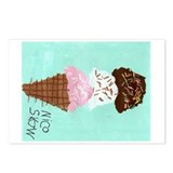 Ice Cream Cone Postcards (Package of 8)