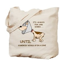 Dog Cone Tote Bag