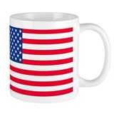 50 Star US Flag Small Mugs