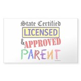Certified, Licensed, Approved Rectangle Decal