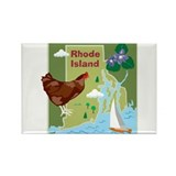 Rhode Island Map Rectangle Magnet (10 pack)