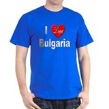 I Love Bulgaria (Front) Black T-Shirt