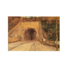 Van Gogh Viaduct Rectangle Magnet (10 pack)