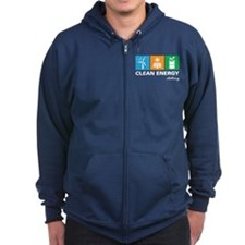 Unique Renewable energy Zip Hoodie