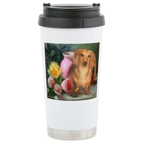 Vase Doxie Ceramic Travel Mug