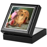 Vase Doxie Keepsake Box